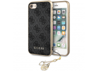 Husa TPU Guess Charms 4G pentru Apple iPhone 7 / Apple iPhone 8 / Apple iPhone SE (2020), Gri, Blister GUHCI8GF4GGR