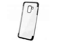 Husa TPU OEM Electro pentru Samsung Galaxy A41, Neagra Transparenta, Bulk