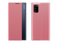 Husa Poliuretan - Piele OEM New Sleep pentru Xiaomi Redmi Note 9 Pro / Xiaomi Redmi Note 9S, Roz, Bulk