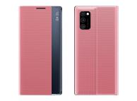 Husa Poliuretan - Piele OEM New Sleep pentru Samsung Galaxy A51 A515 / Samsung Galaxy A31, Roz, Bulk