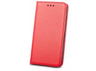 Husa Piele OEM Smart Magnet pentru Motorola Moto G9 Play, Rosie