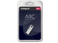 Memorie Externa Integral ARC, 64Gb, USB 2.0, Argintie, Blister INFD64GBARC