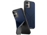 Husa Textil - TPU UNIQ Transforma Rigor pentru Apple iPhone 12 mini, Bleumarin, Blister