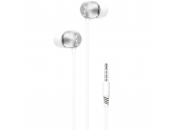 Handsfree Casti In-Ear XO Design EP26, Cu microfon, 3.5 mm, Alb, Blister