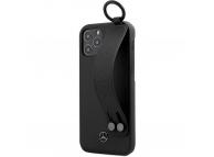 Husa Piele MERCEDES Leather Hand Strap pentru Apple iPhone 12 / Apple iPhone 12 Pro, Neagra MEHCP12MLSSBK