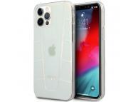 Husa TPU MERCEDES Transparent Line Iridescent pentru Apple iPhone 12 / Apple iPhone 12 Pro, Transparenta MEHCP12MCLIR