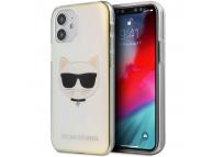 Husa Plastic - TPU Karl Lagerfeld Choupette Head pentru Apple iPhone 12 mini, Transparenta Multicolor KLHCP12SCIR
