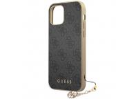 Husa TPU Guess Charms 4G pentru Apple iPhone 12 mini, Gri GUHCP12SGF4GGR