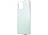Husa Plastic - TPU Guess 3D Raised Iridescent pentru Apple iPhone 12 mini, Transparenta GUHCP12S3D4GIRBL
