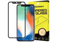 Folie Protectie Ecran WZK pentru Apple iPhone 12 / Apple iPhone 12 Pro, Sticla securizata, Full Face, Full Glue, Neagra