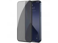 Folie Protectie Ecran Baseus Privacy Light pentru Apple iPhone 12 / Apple iPhone 12 Pro, Sticla securizata, Full Face, Full Glue, Set 2buc, 0.3mm, Neagra SGAPIPH61P-TG01