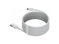 Cablu Date si Incarcare USB la USB Type-C, 1.5 m, 40W, 5A, (Set 2 Bucati), Alb, Blister TZCATZJ-02