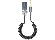 Receptor / Transmitator AUX Usams Bluetooth 5.0 USB-AUX, US-SJ464, Argintiu, Blister SJ464JSQ01