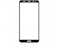 Folie Protectie Ecran OEM pentru Huawei Mate 10 Lite, Sticla securizata, Full Face, Full Glue, 9D, 0.3mm, Neagra, Blister