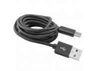 Cablu Date si Incarcare USB la USB Type-C SBOX, 1.5 m, Negru, Bulk CAB0147