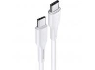 Cablu Date si Incarcare USB Type-C la USB Type-C Usams U43 US-SJ459, 1.2 m, 100W PD Fast Charge 5A, Alb, Blister SJ459USB02