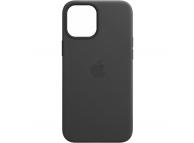 Husa Piele Apple iPhone 12 mini, MagSafe, Neagra, Blister MHKA3ZM/A