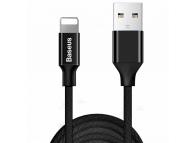 Cablu Date si Incarcare USB la Lightning Baseus Yiven, 3 m, 1.5A, Negru, Blister CALYW-C01