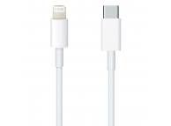 Cablu Date si Incarcare USB Type-C la Lightning OEM, 1 m, Alb, Blister