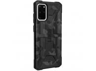 Husa Plastic Urban Armor Gear UAG PATHFINDER pentru Samsung Galaxy S20 Plus G985, Midnight Camo, Neagra, Blister