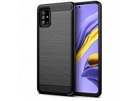 Husa TPU Forcell Carbon pentru Samsung Galaxy A51 5G A516, Neagra, Bulk