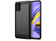 Husa TPU Forcell Carbon pentru Samsung Galaxy A51 5G A516, Neagra