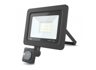Proiector LED Forever PROXIM II 20W |4500K| PIR IP66, cu Senzori de Miscare, pentru Exterior, Neagra, Blister