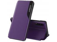 Husa Piele OEM Eco Leather View pentru Samsung Galaxy A21s, cu suport, Mov, Bulk