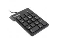 Tastaura numerica USB SBOX NK-106, 18 Taste, Neagra, Blister
