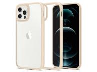 Husa Plastic - TPU Spigen ULTRA HYBRID pentru Apple iPhone 12 / Apple iPhone 12 Pro, Bej, Blister ACS02177