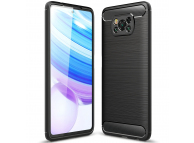 Husa TPU Tech-Protect Carbon pentru Xiaomi Poco X3 NFC, Neagra