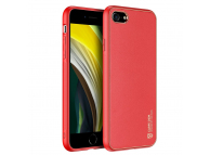Husa TPU - Piele DUX DUCIS Yolo pentru Apple iPhone 7 / Apple iPhone 8 / Apple iPhone SE (2020), Rosie, Blister