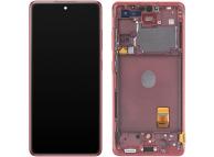 Display - Touchscreen Samsung Galaxy S20 FE G780, Cu Rama, Rosu GH82-24219E