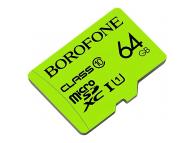 Card Memorie MicroSDXC Borofone, 64Gb, Clasa 10 / UHS-1 U1