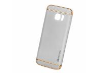 Husa Plastic Mocolo SUPREME LUXURY pentru Samsung Galaxy S7 edge G935, Argintie, Blister