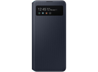 Husa Poliuretan Samsung Galaxy A51 5G A516, S View Wallet, Neagra, Resigilat, Blister EF-EA516PBE