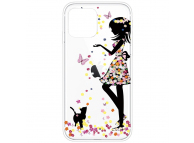 Husa TPU OEM Antisoc Painted Girl pentru Apple iPhone 12 Pro Max, Multicolor, Bulk