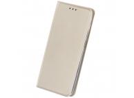 Husa Piele OEM Smart Skin pentru Motorola Moto G9 Play, Aurie, Bulk