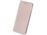 Husa Piele OEM Smart Skin pentru Motorola Moto G9 Play, Roz Aurie, Bulk
