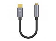 Adaptor Audio USB Type-C la 3.5 mm Baseus L54, 0.09 m, Gri, Blister CATL54-0G