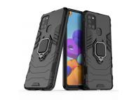 Husa TPU OEM Defender Armor pentru Samsung Galaxy A21s, Neagra, Bulk