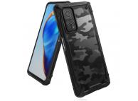 Husa Plastic - TPU Ringke Fusion X pentru Xiaomi Mi 10T 5G / Xiaomi Mi 10T Pro 5G, Camo, Neagra, Blister XDXI0018