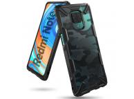 Husa Plastic - TPU Ringke Fusion X pentru Xiaomi Redmi Note 9S / Xiaomi Redmi Note 9 Pro, Camo, Neagra, Blister XDXI0008