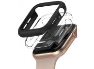 Husa Protectie Ceas Ringke Slim pentru Apple Watch Series 4 44mm / Apple Watch Series 5 44mm / Apple Watch SE 44mm, Set 2 buc, Neagra Transparenta, Blister SLAP0035