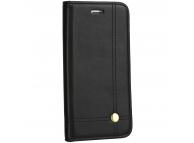 Husa Piele OEM PRESTIGE pentru Apple iPhone 12 Pro Max, Neagra, Bulk