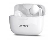 Handsfree Casti Bluetooth Lenovo XT90, Bluetooth 5.0, cu Suport Incarcare, Alb, Blister