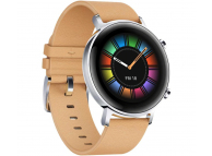 Ceas Smartwatch Huawei Watch GT2, 42mm, Gravel Beige, 55024475, Bej, Resigilat, Blister