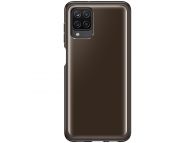 Husa TPU Samsung Galaxy A12 A125, Clear Cover, Neagra, Blister EF-QA125TBEGEU