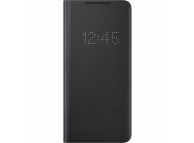 Husa Samsung Galaxy S21 Ultra 5G, LED View Cover, Neagra EF-NG998PBEGEE