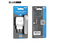 Incarcator Retea cu cablu MicroUSB BLUE Power BBA25A Outstanding, 2 X USB, 2.4 A, Alb, Blister